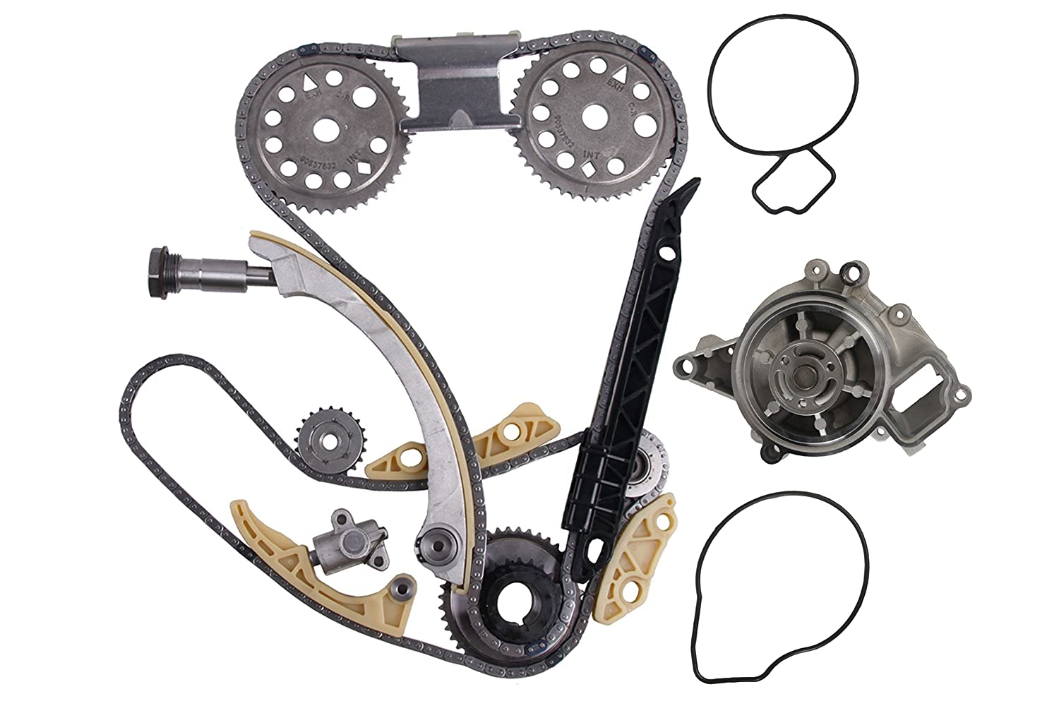MOCA Timing Chain Kit Water Pump for 2000-2011 Chevrolet Cobalt HHR & Pontiac G5 & Saturn Sky Aura Vue 2.2L 2.4L L4 DOHC F B OELINE Auto Parts