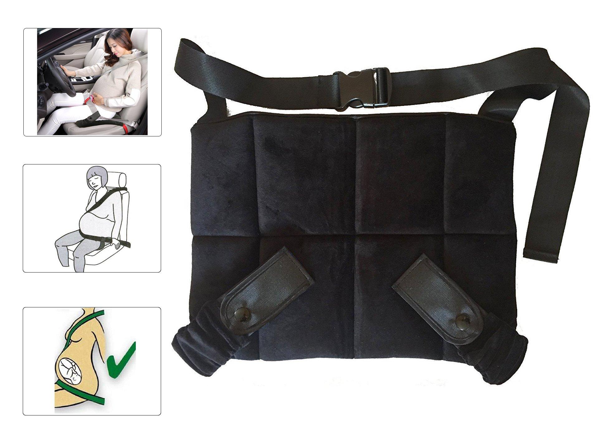 Protector Cinturón Embarazada, CompraFun Cinturón Maternidad Cinturón Ajustable para Embarazadas, Proporciona Seguridad y Comodidad