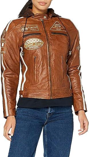 Urban Leather  UR-190 Womens Motorbike Jacket 4XL Tan