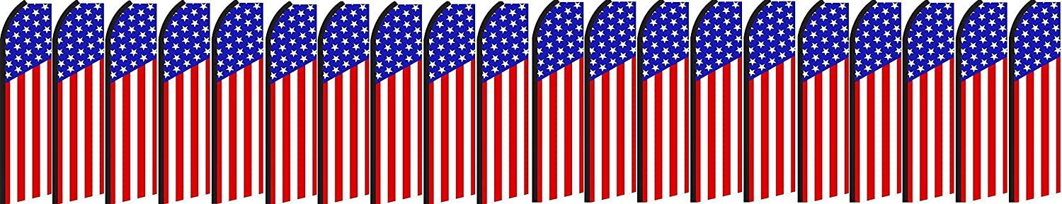 US Flag King Swooper Feather Flag Sign Pack of 20 Hardware not Included