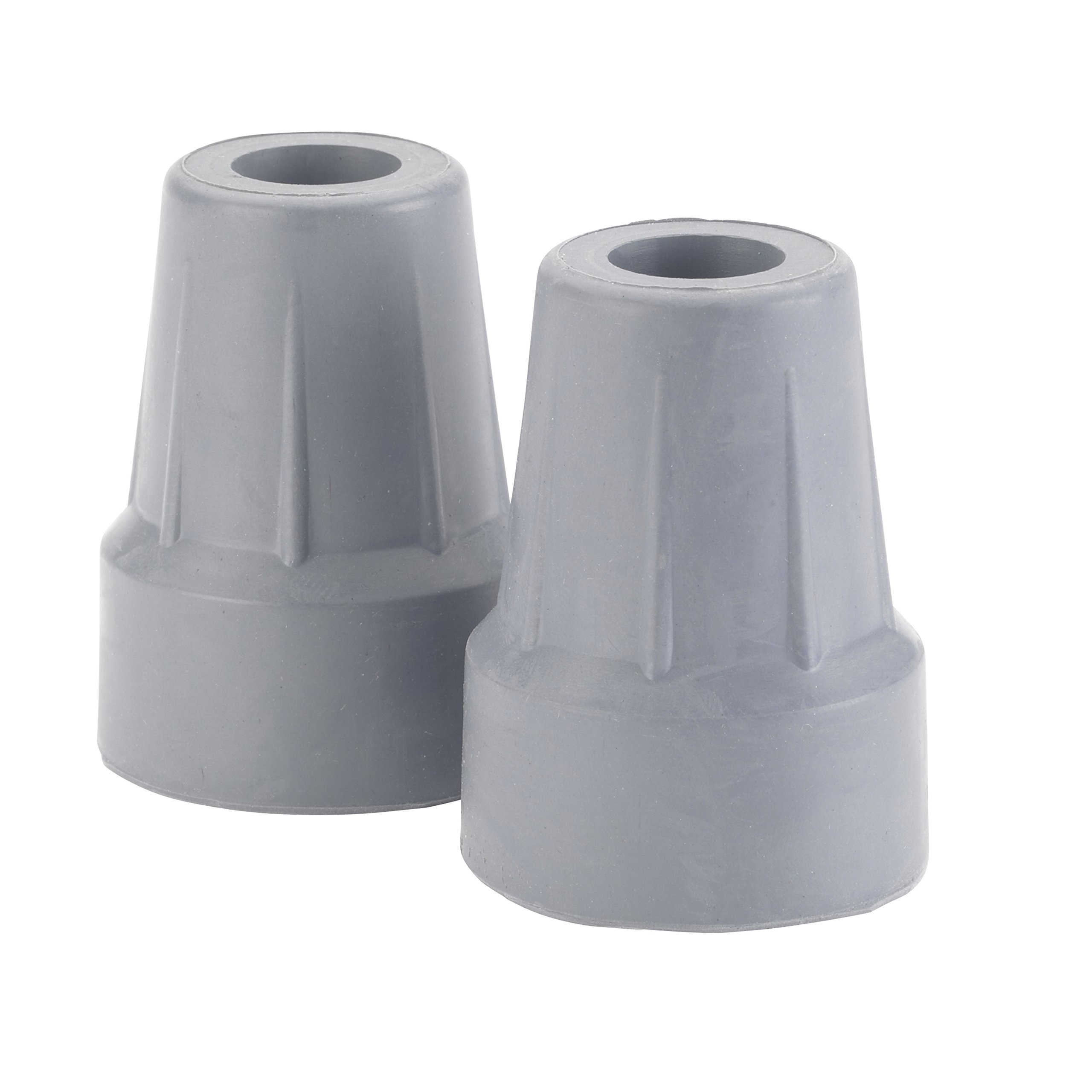 Drive Medical Forearm Crutch Tip, Gray, 2 Count