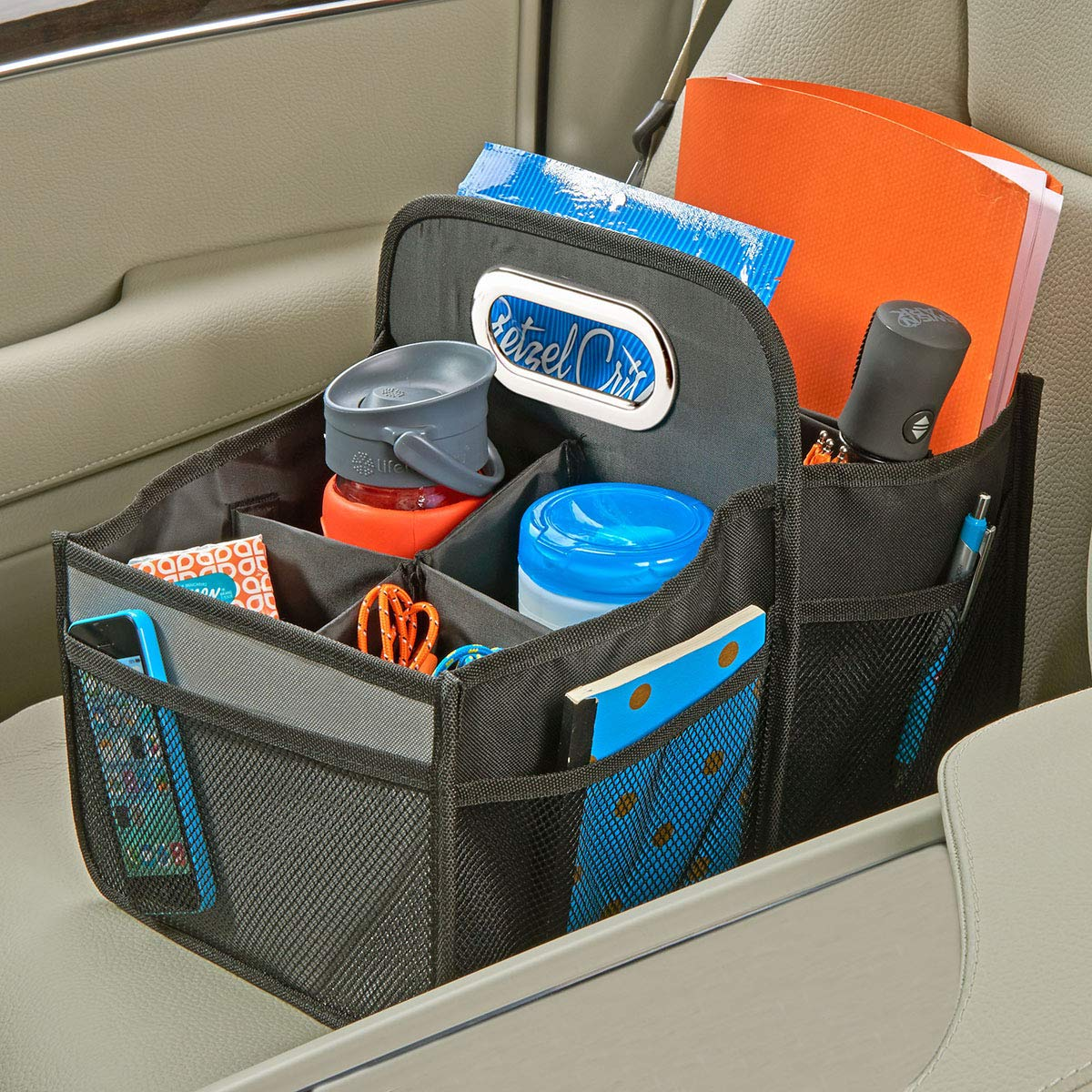 High Road Car Seat Organizer with Movable Dividers by High Road