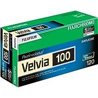 Fujifilm 16326107 Fujichrome Velvia 120mm 100 Color Slide Film ISO 100-5 Roll Pro Pack (Green/White/Purple)