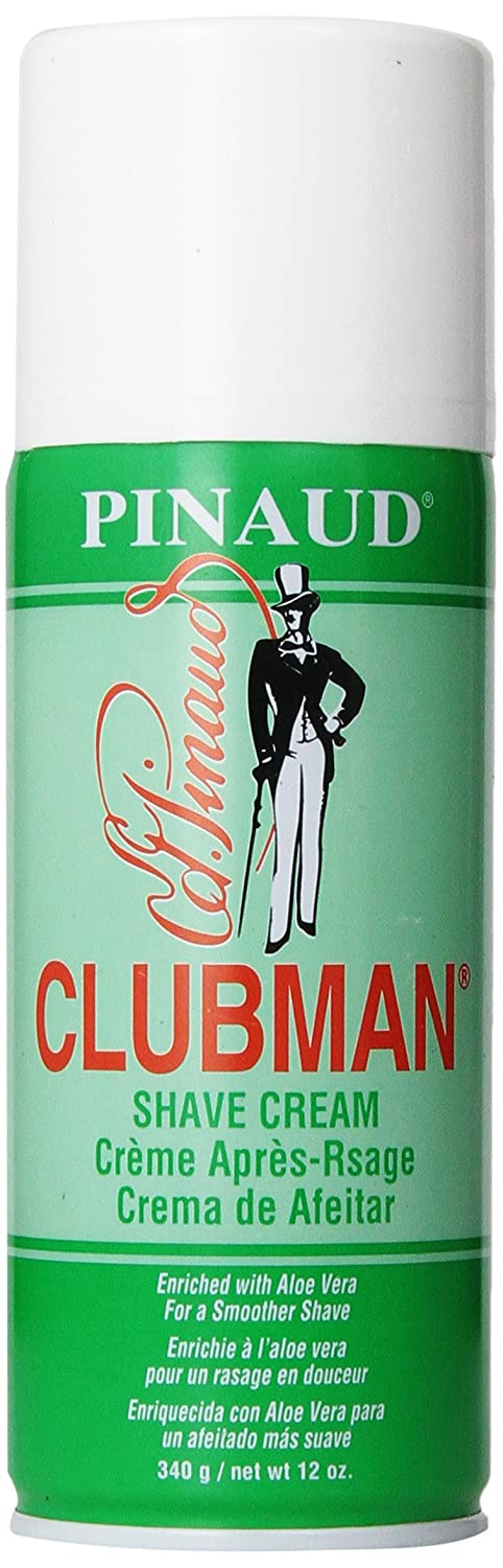 Clubman Pinaud Barbershop Style Shave Cream Enriched with Aloe Vera For a Smoother Shave, 12 oz/340 g 275501