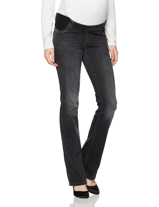 bellybutton Damen Umstandsjeans Jeans Bootcut mit Elastischen Tasch