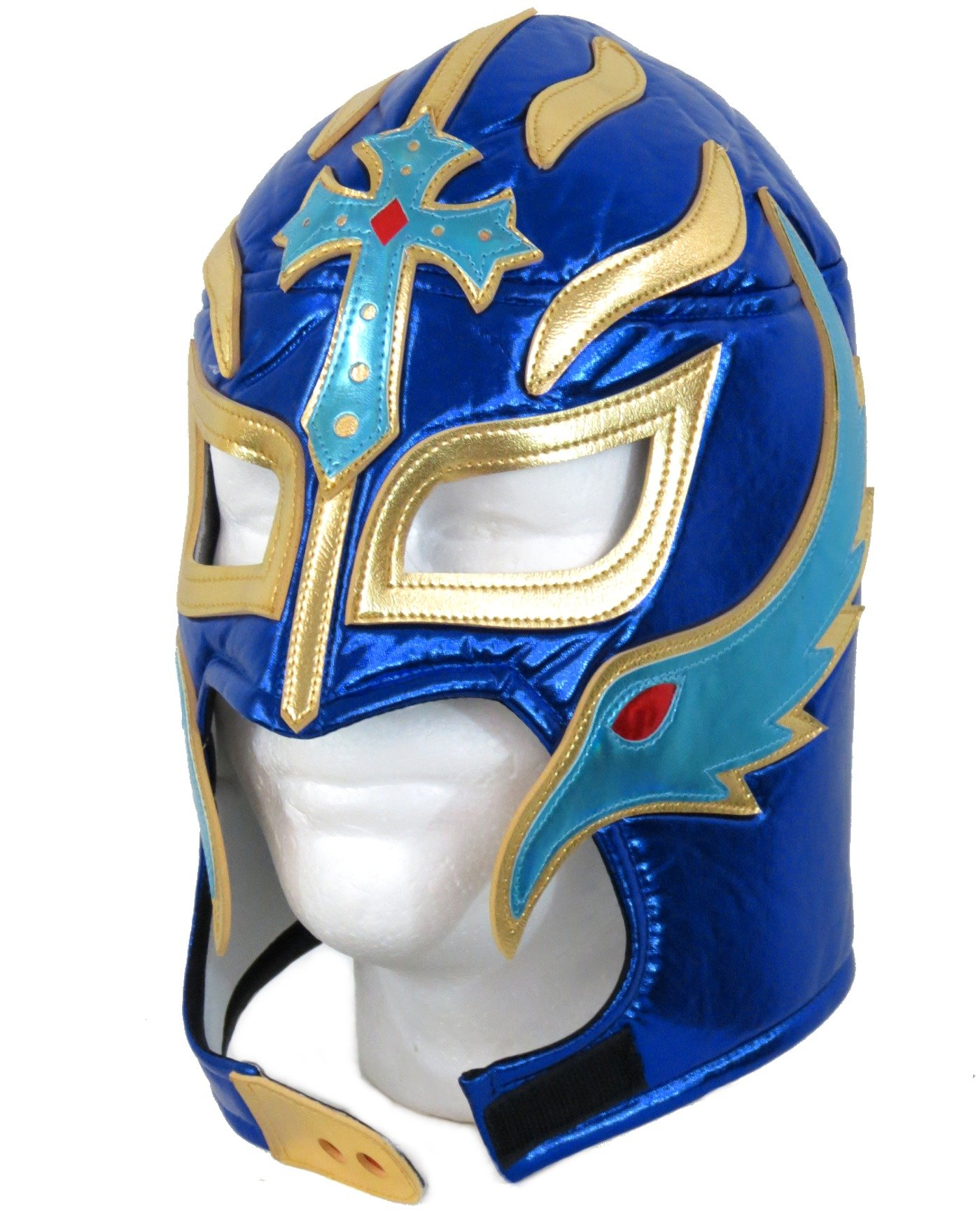 Rey Mysterio Lucha Libre Wrestling Mask (Pro-fit) Costume Wear Royal Blue MX03