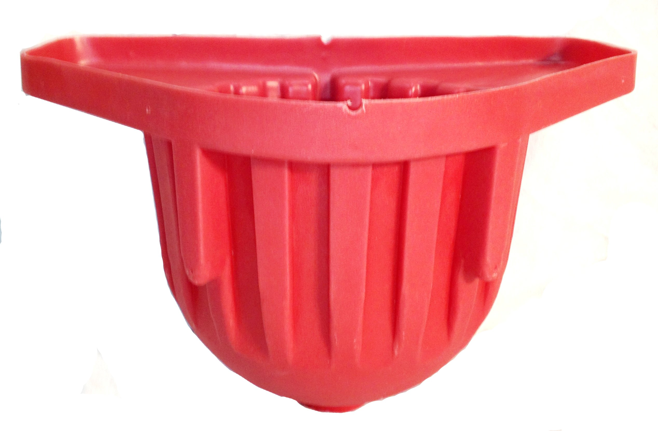 High Country Plastics WFD-R Wall Feeder with Drain, Red