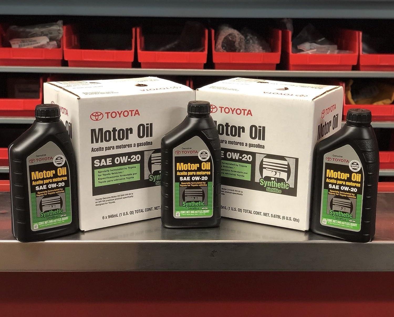 Amazon.com: Toyota/ exxon mobil Case of 6 Quarts Full Synthetic TGMO SN 0W-20 Oil: Automotive