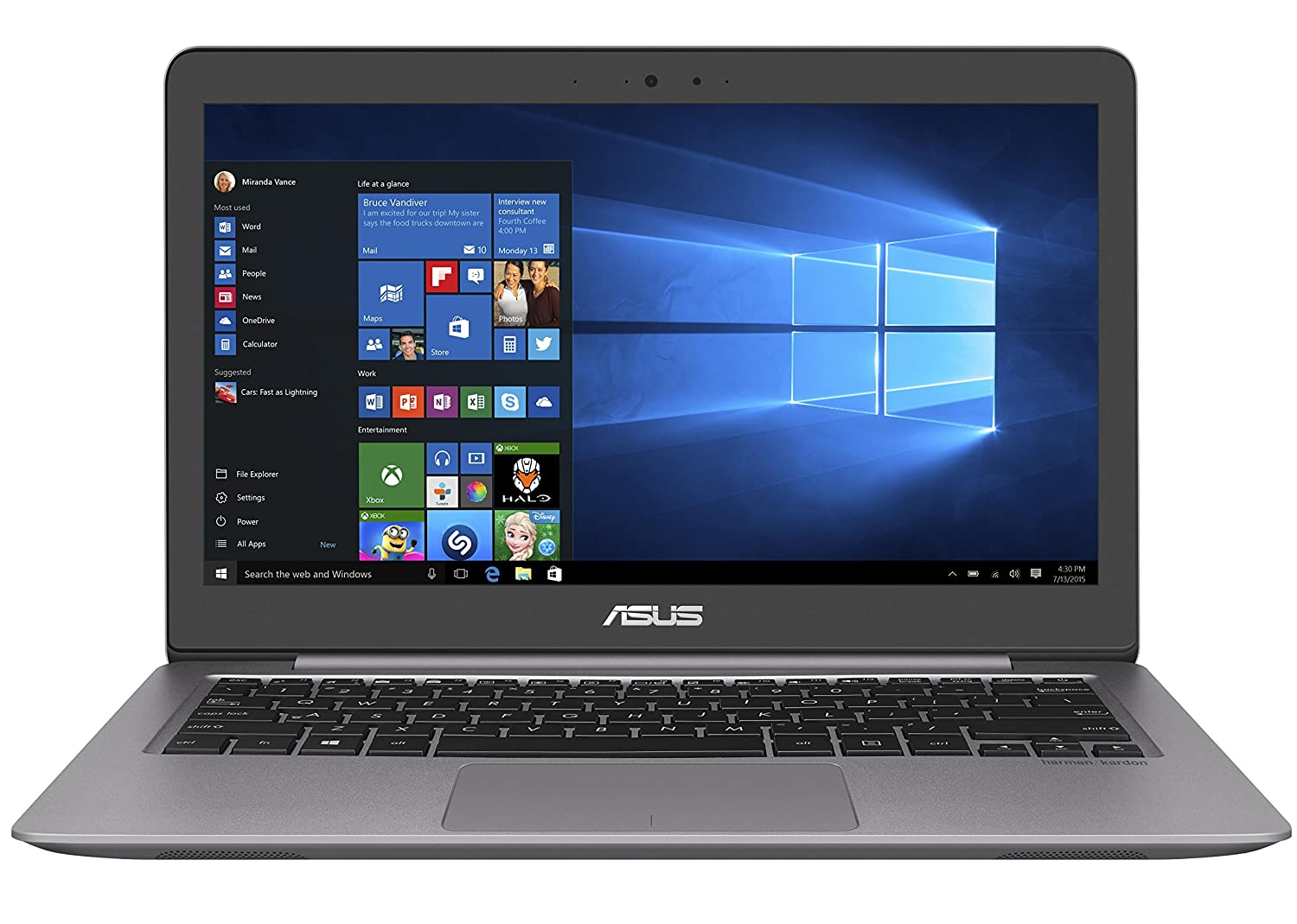 "Asus ZenBook Notebook, Display 13.3"" Full HD"