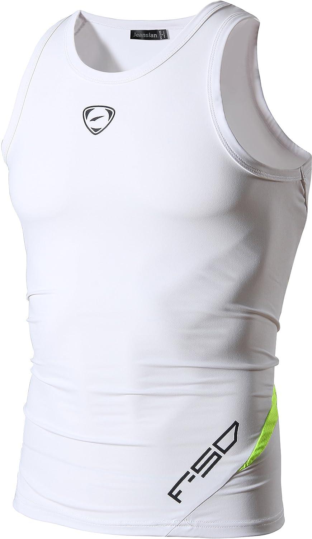 jeansian Herren Armellos Sport Muskelshirt Dry Fit Sleeveless Shirts Tank Tops Tanktops Achselshirts LSL3306