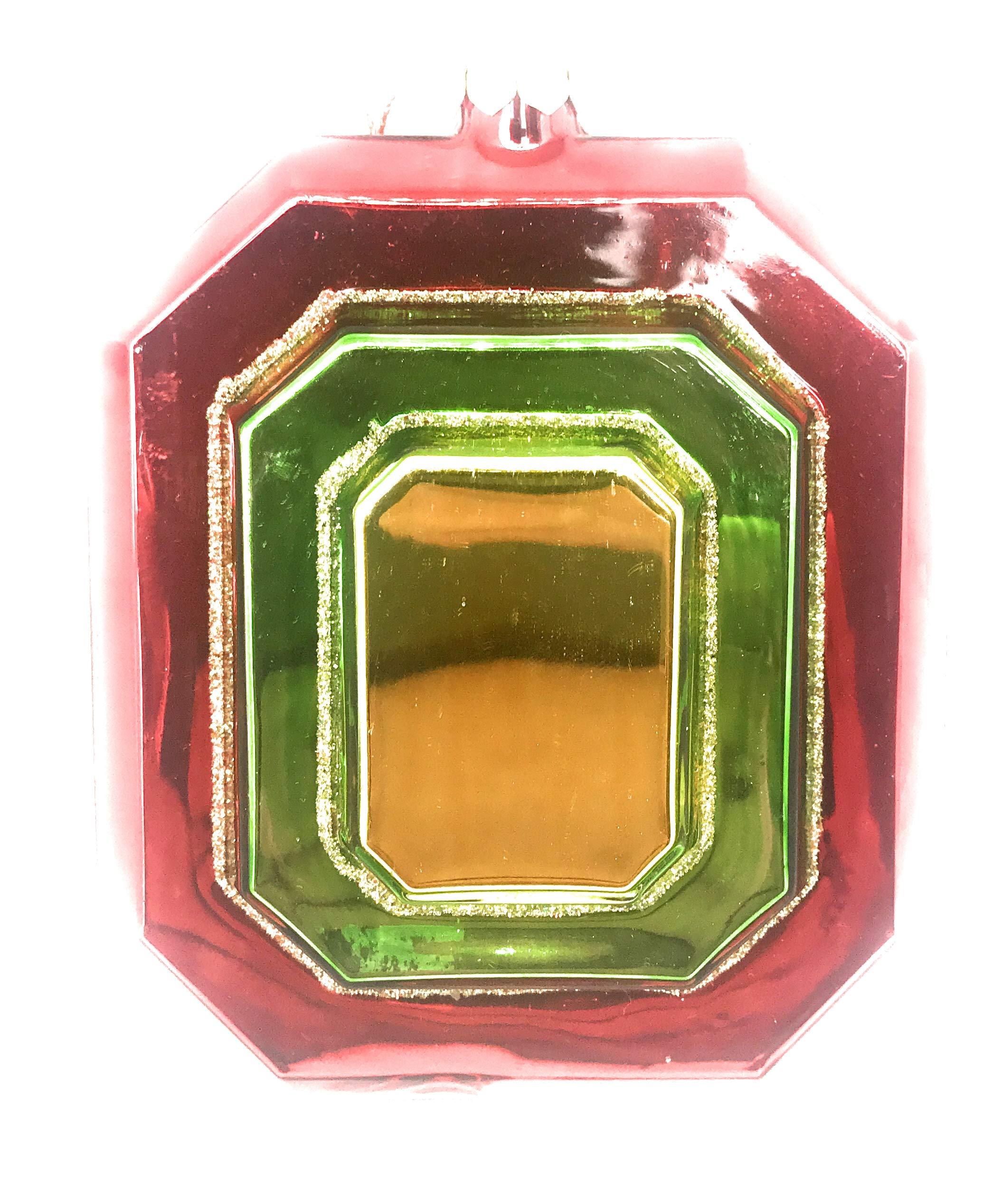Noel Rue Christmas Tree Ornament Hand Blown Glass Liquor Flask Funky