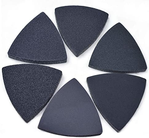 Wen Sander 80 Grit Hook and Loop Sanding Triangle Sandpaper 10 Pack Pads 11 inch