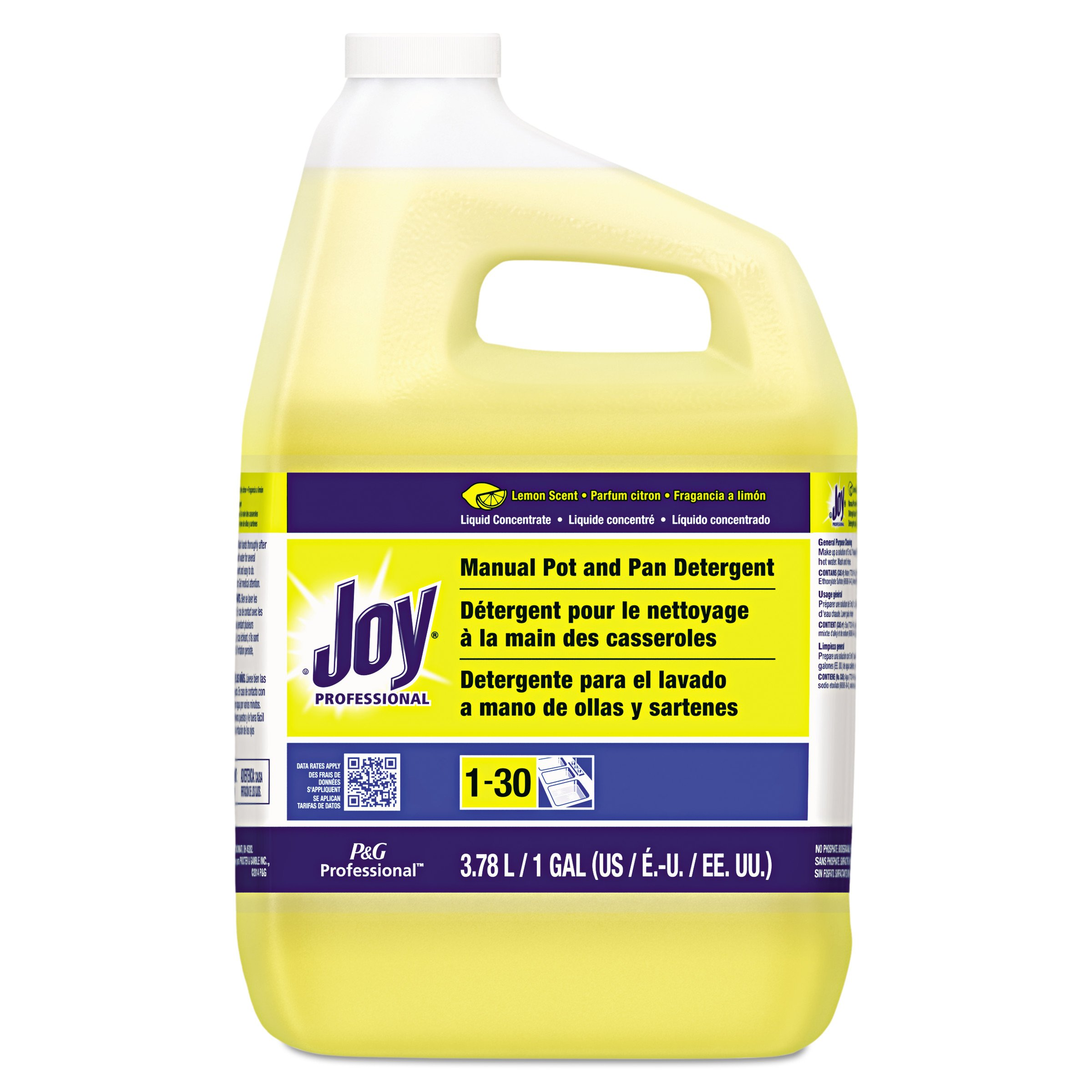 Joy Professional Pot and Pan Detergent, Lemon Scent, 1 Gallon (Case of 4)