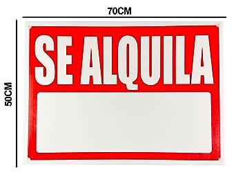 Cartel Se Alquila 50x70cm | Fabricado en Polipropileno de ...