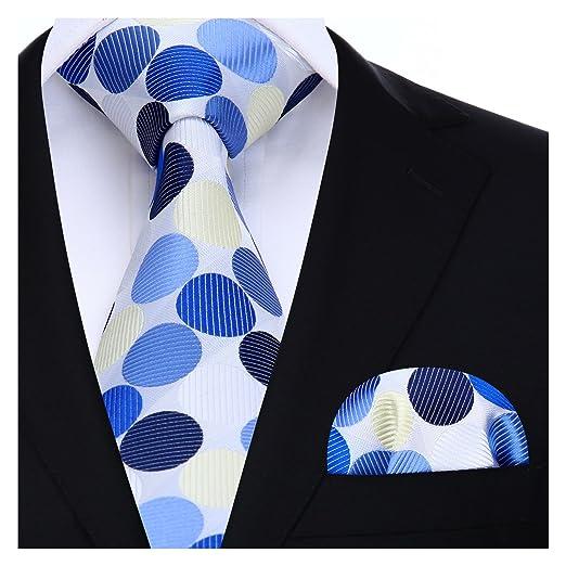 b60378dfaada3 Amazon.com: BIYINI Mens Tie Polka Dot Necktie and Pocket Square Set for  Wedding Party: Clothing