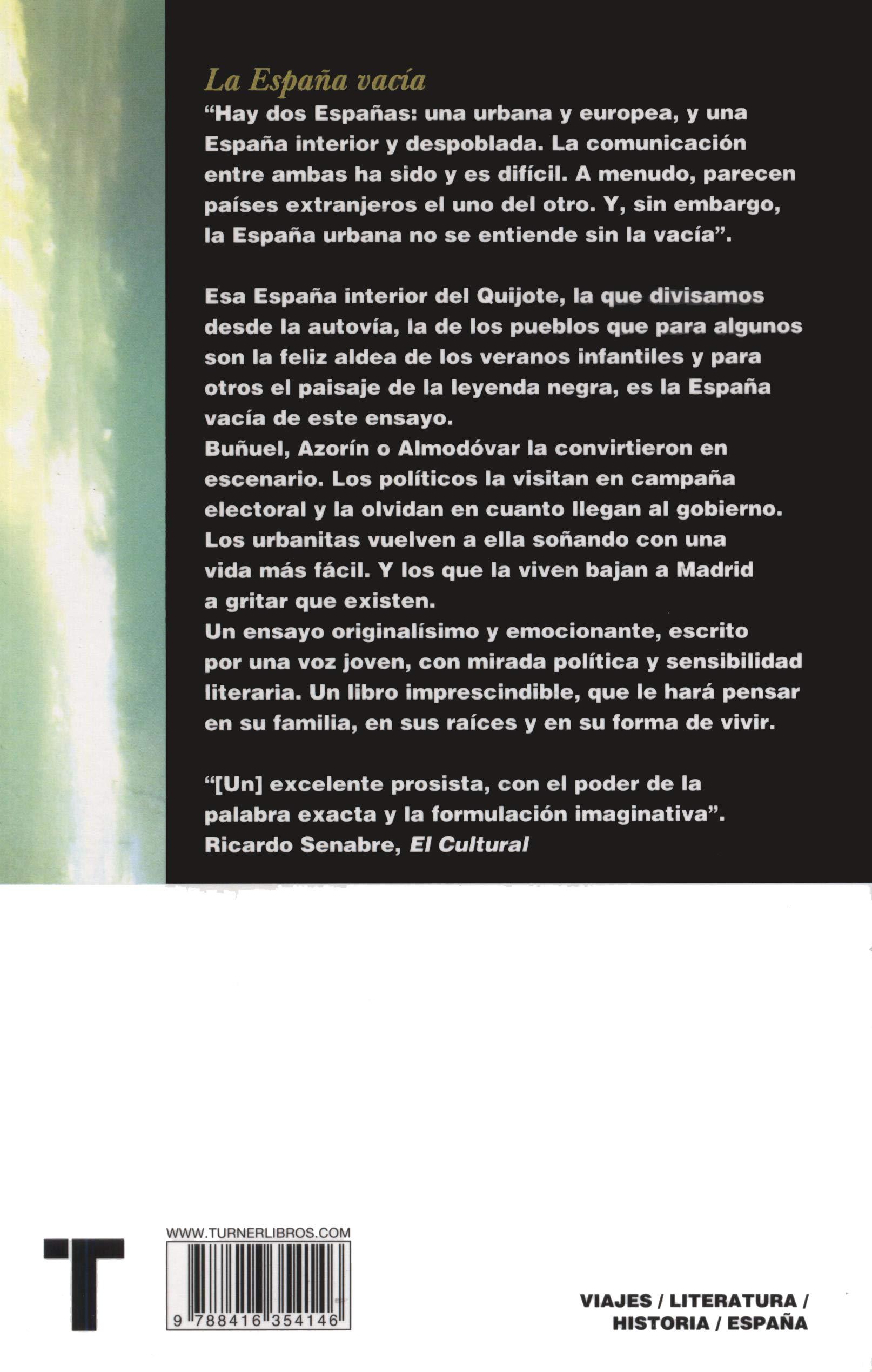 La España vacía: Viaje por un país que nunca fue Noema: Amazon.es: Molino, Sergio del: Libros