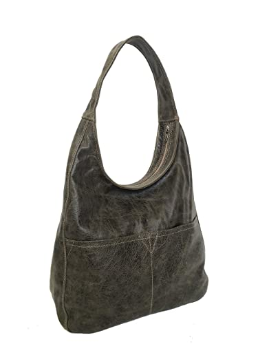 Amazon.com  Fgalaze Genuine Distressed Leather Hobo Bag d1a4dd7b37a9