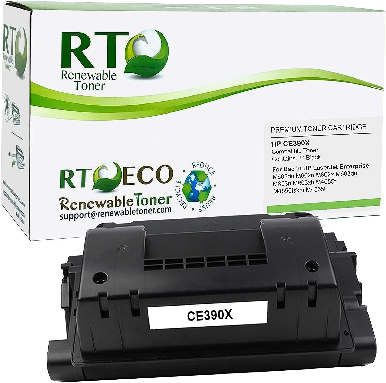 Renewable Toner Compatible Toner Cartridge High Yield Replacement for HP 90X CE390X Laserjet 600 M602 M603 M4555