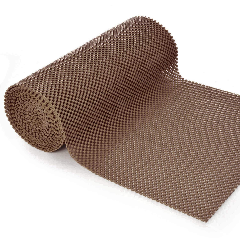 Grip Liner Non-Adhesive Shelf Liner, Anti-Slip Mat Drawer Liner 12 in. x 20 ft. Beige BNYD