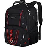 Travel Laptop Backpack,17.3 Inch Extra Large Capacity College School Bookbags with USB Charging Port,TSA Friendly Business RF