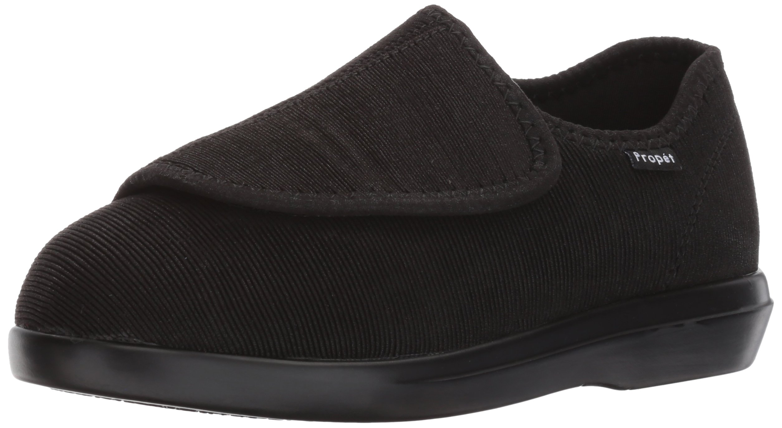 Propet Men's Cush N Foot Slipper, Black Corduroy, 10 3E US by Propét