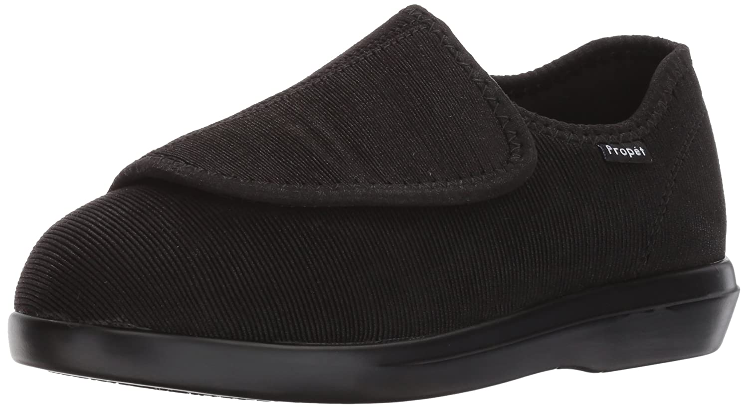 Propét Women's Cush N Foot Slipper B01NADQCDI 8.5 2E US|Black Corduroy