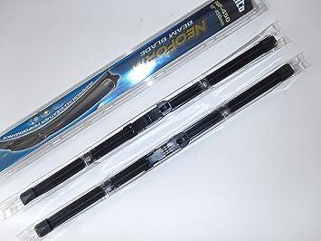 Juego de 2 escobillas de limpiaparabrisas Trico de 66 x 71 cm: Amazon.es: Coche y moto