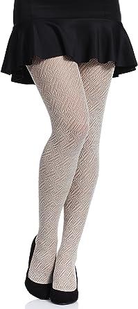 Merry Style Medias Algodón con Estampado Lencería Sexy Panty MujerMS 402 200 DEN (Café Claro, S (Tamaño del fabricante: 2)): Amazon.es: Ropa y accesorios