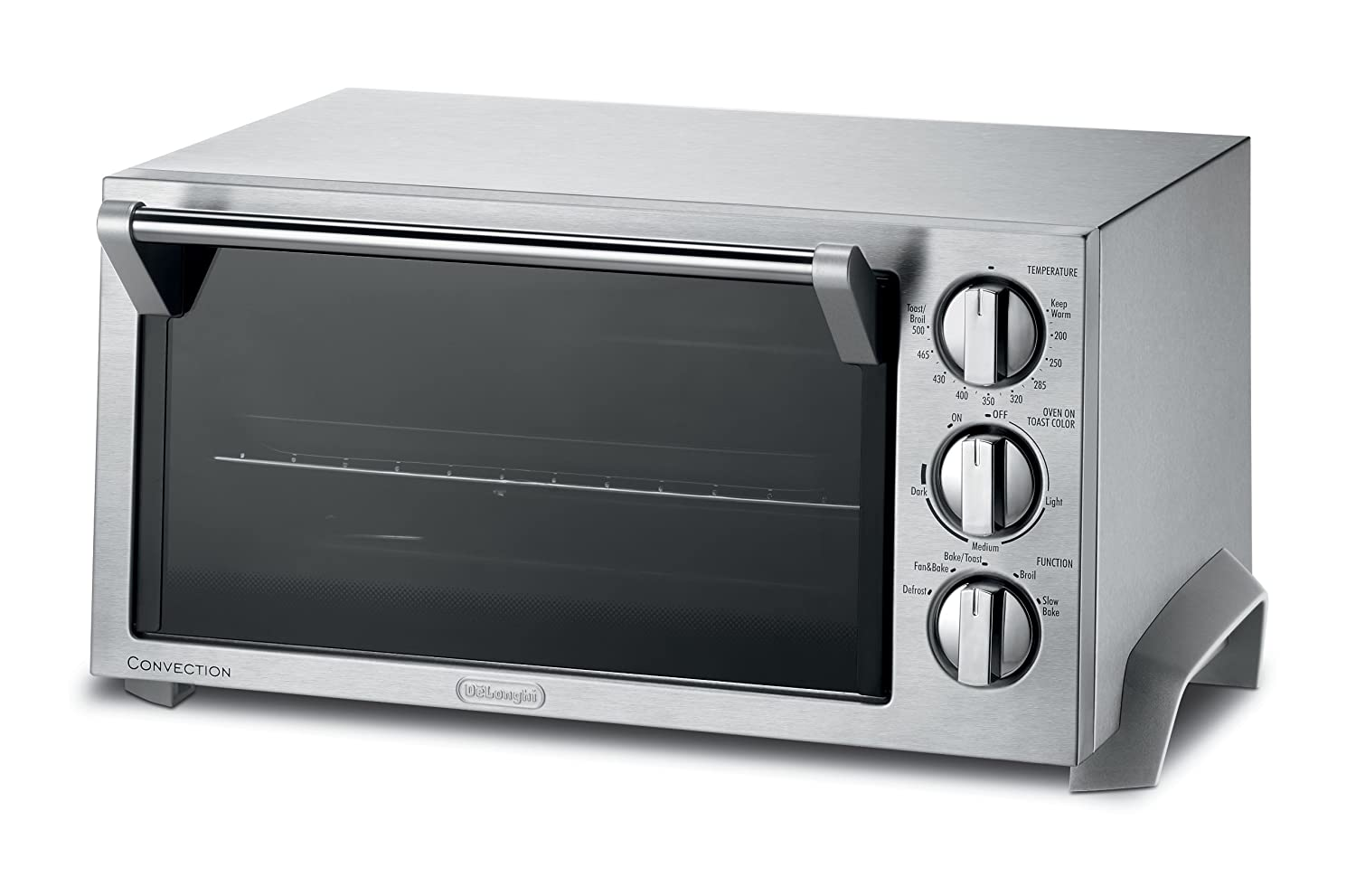DeLonghi EO1270 6-Slice Convection Toaster Oven, Stainless Steel