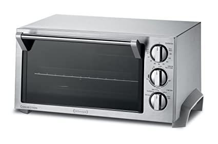 DeLonghi EO1270 6 Slice Convection Toaster Oven, Stainless Steel