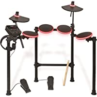 ION Audio Redline Drums - Batería musical electrónica USB con más de 200 sonidos de percusión (incluye baquetas y auriculares)
