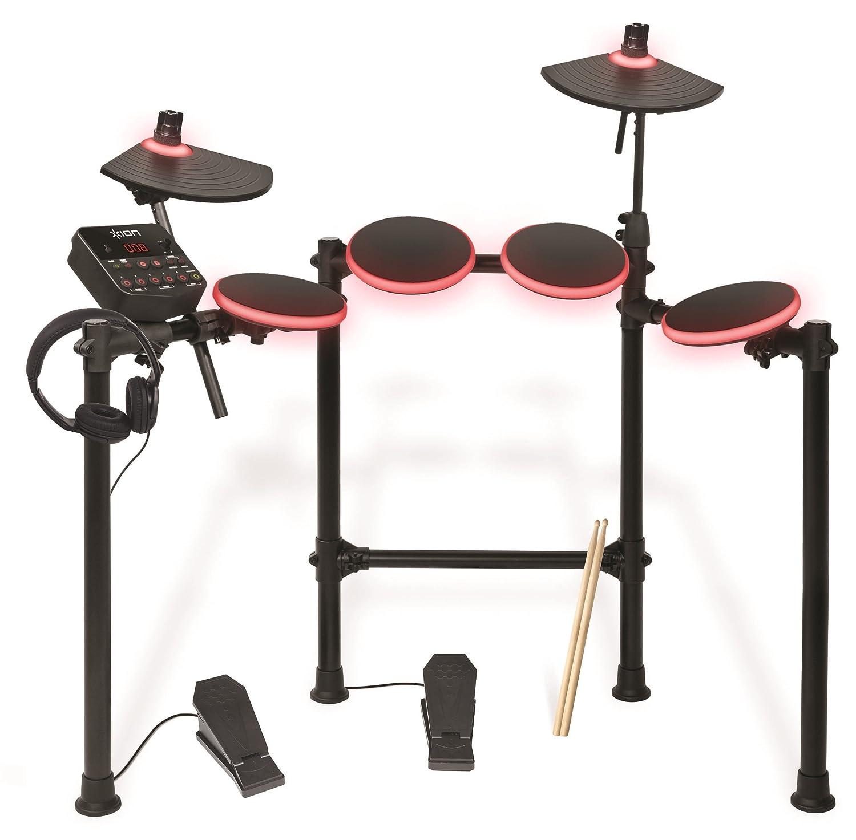 ION Audio Redline Drums - Batería musical electrónica USB con más de 200 sonidos de percusión (incluye baquetas y auriculares): Amazon.es: Instrumentos ...