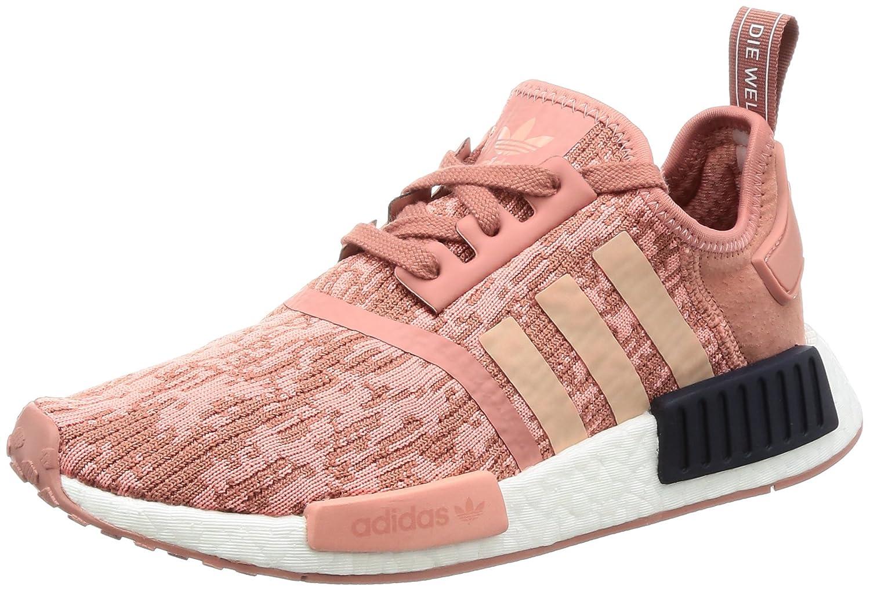 adidas NMD_r1 W, Sneakers Basses Femme, Gris (Grey Five F17/Grey Three F17/Raw Pink F15), 40 EU