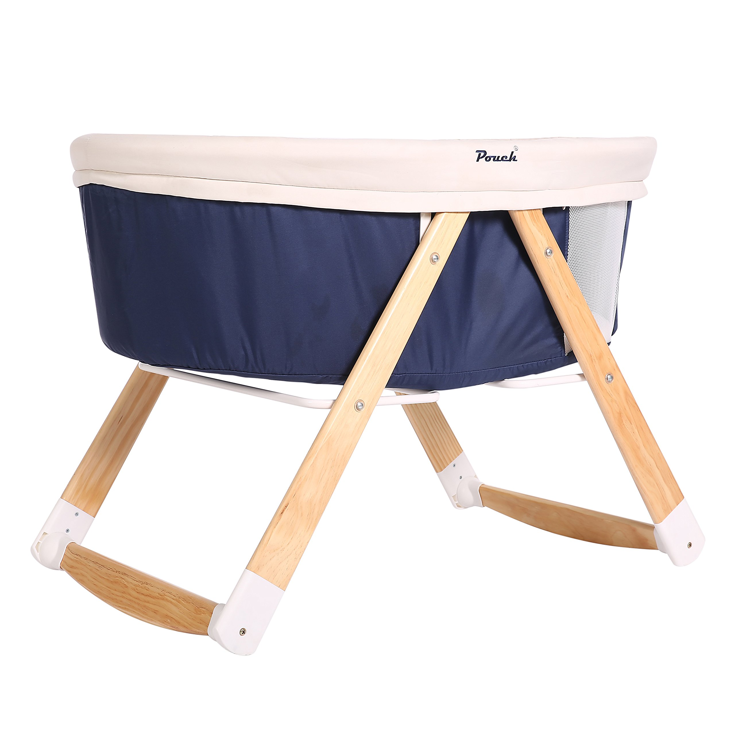 C&AHOME Baby Cradle Infant Travel Crib/Cot Multifunctional Cradle Portable Sleeper Bassinet, Blue