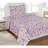 Amazon Com Pink Peace Signs Hippie Bedding Twin Single