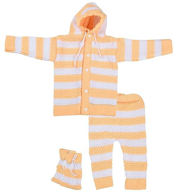 ec3c61c06 Kuchipoo Baby Girls  Regular Fit Sweater Set (Yellow