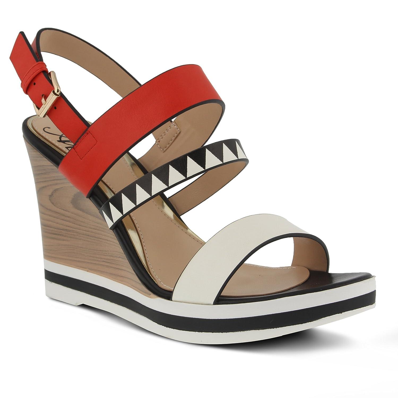 Azura by Spring Step Women's Antonietta Wedge Sandal B01N65P4NO 38 EU/7.5-8 M US|Red Multi