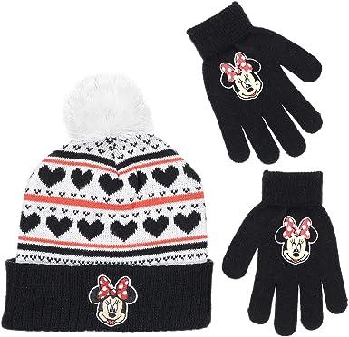 Disney Mickey /& Minnie Beanie Ski Cap Girls Size 4-6x