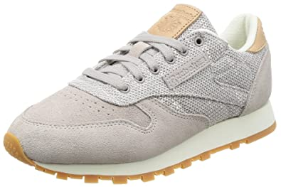 95fee1aa6a6cff Reebok Women s Cl Ebk Grey Chalk Lilac Ash Leather Sneakers - 6 UK ...