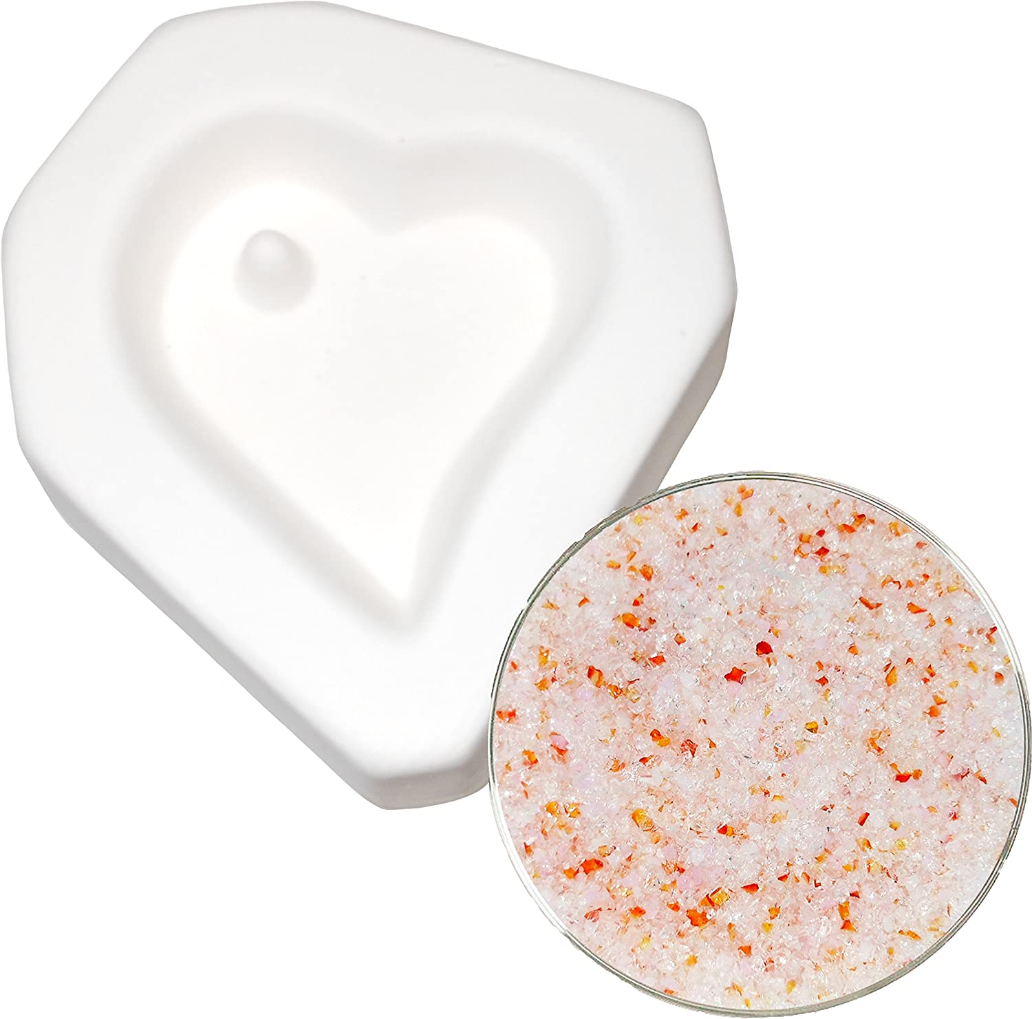 Heart With Hole Pendant and Forever Yours Frit Sampler Kit - Fusible Glass Jewelry Mold New Hampshire Craftworks 4336824997
