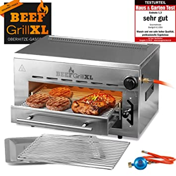 GOURMETmaxx Beef Maker XL | Parrilla de gas calor superior ...
