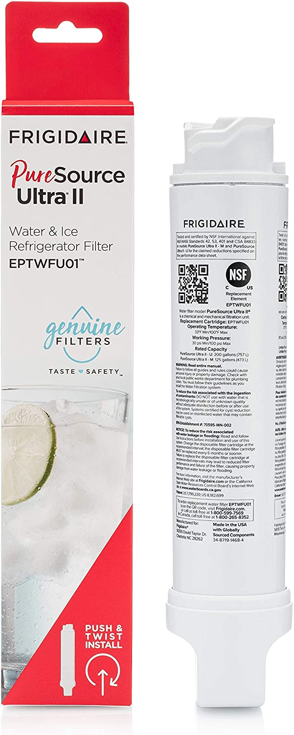 Frigidaire EPTWFU01 Water Filtration Filter, 1 Count, White