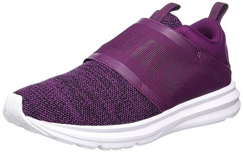 Puma Enzo Strap Knit, Zapatillas De Deporte para Exterior para Mujer, Morado (Dark Purple-Black), 42 EU: Amazon.es: Zapatos y complementos