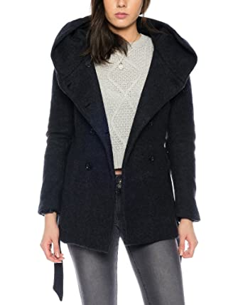 7b361d335d82 ONLY Damen Mantel onlLisa HS Short Wool Jacke 15136119, Farbe Schwarz,  Größe