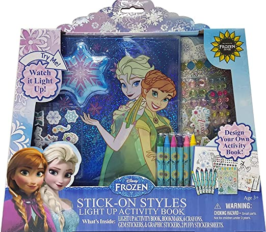 Tara Toy Frozen Stick-On-Styles Light Up Activity Book