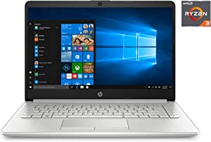 "2020 HP 14"" HD (1366 x 768) Laptop PC, AMD Ryzen 3 3250U Dual-Core Processor, 4GB DDR4 RAM, 1TB Hard Drive, HDMI, AMD Radeon Vega 3 Graphics, Windows 10 Home, Silver (Google Classroom Compatible)"