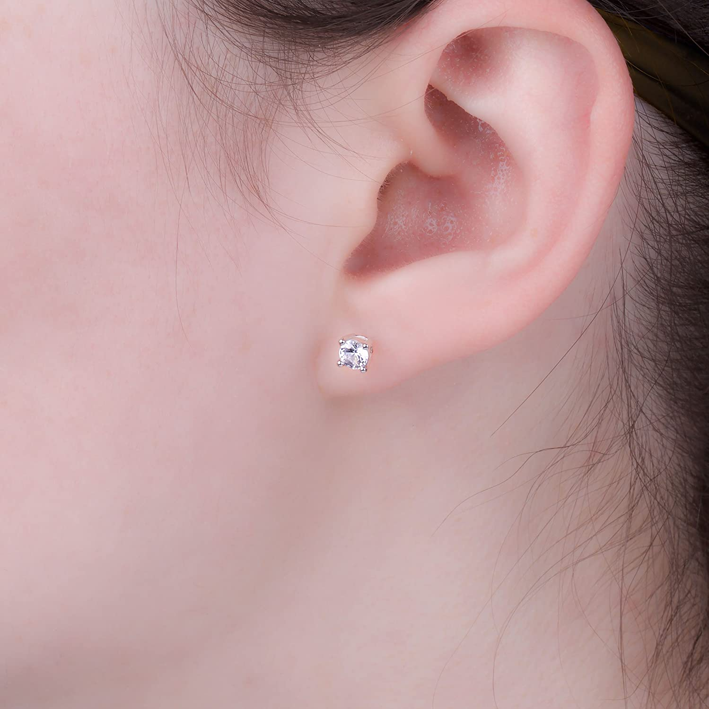 5da06a64f92b4 Eternity 2ct White Sapphire Silver Stud Earrings (YELLOW GOLD)