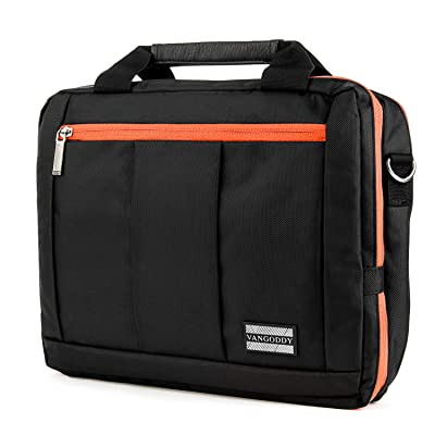 3 in 1 Orange Shoulder Messanger Bag w/ Accessory Pockets for Dell Latitude | AT&T Primetime