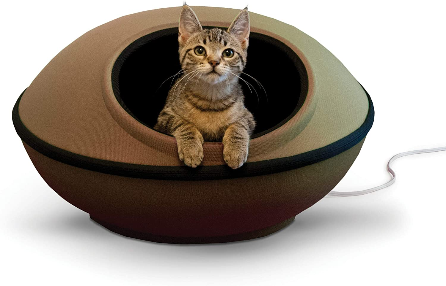K&H PET PRODUCTS Mod Dream Pod Pet Bed, Cat Cave For All Cat Sizes, Heated and Unheated, Multiple Colors