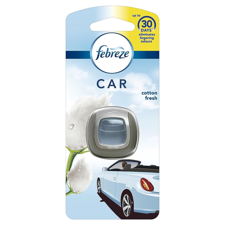 Febreze Cotton Fresh Car Clip Air Freshener, Pack of 6 Procter & Gamble 81614520